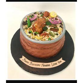 Biryani Theme Cake