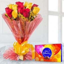 Mixed Roses Bunch with Celebration