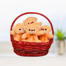 Handle Basket of Teddy