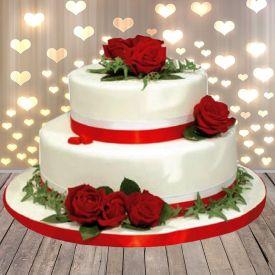Weeding Roses cake
