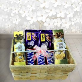 Ferrero rocher with mixed chocolates