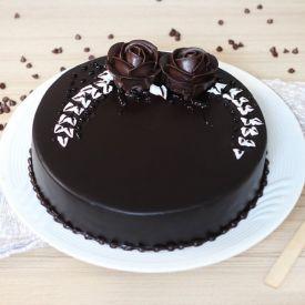 Chocolaty Flowers Design Cake
