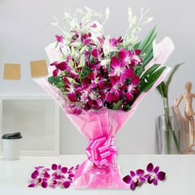 Wonderful Gift of Orchids Bouquet