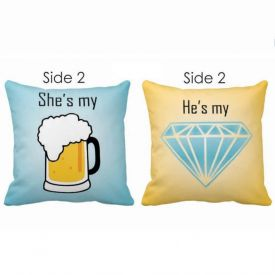 Double Side Cushion She is My He is My