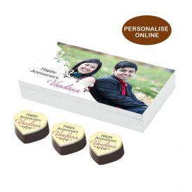 Personalized Anniversary Chocolate Gift Box