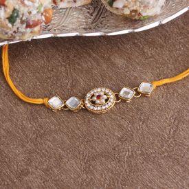 Unique Golden Rakhi