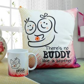 Mug with Cushion Hamper for Brother