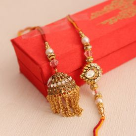 Golden Lumba Rakhi Set