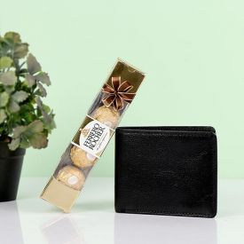 Black Men's Wallet With Rocher