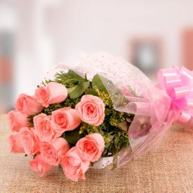 Fresh Pink Roses Bouquet