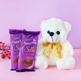 Teddy With Silk Chocolates
