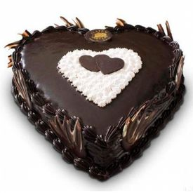 Heart Shaped Love Truffle Cake