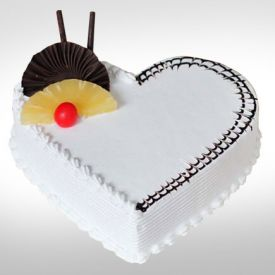 Vanilla Heart Shaped Cake