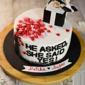 Engagement Fondant Cake