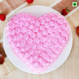 Heart-Shape Strawberry Eggless