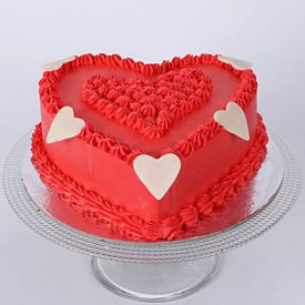 Hot Red Heart Cake 1 kg
