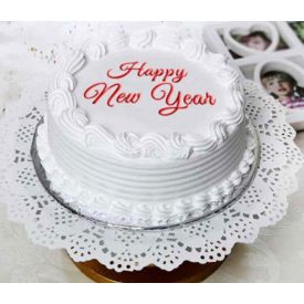 happy new year Vanilla cake