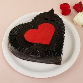 Rose Heart Truffle Cake