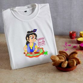 Gujiya with Holi T-shirt