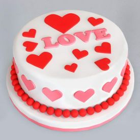 Love you fondant cake