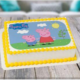 Vanilla Peepa Pig cake