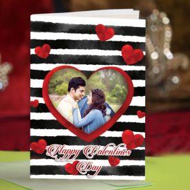 Heart cut Greeting card