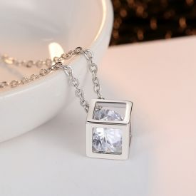 Timeless Crystal Stone Pendant Necklace