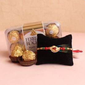 Rakhi with chocolates combo pack