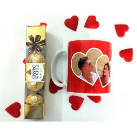 Personalized Mug and Ferrero Rocher Chocolate