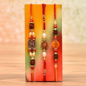 Stone Studded Rakhi Set