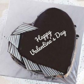 Heart shape valentines cake