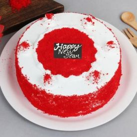 New Year Red Velvet Cake