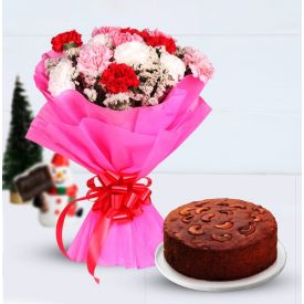 Carnation with Plum cake