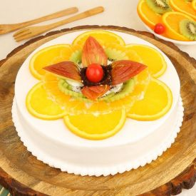 Fruits Vanilla Cake