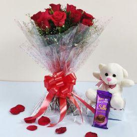 Roses, Silk N Teddy