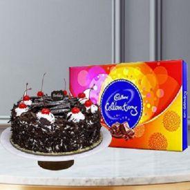 Black forest cake with celebration