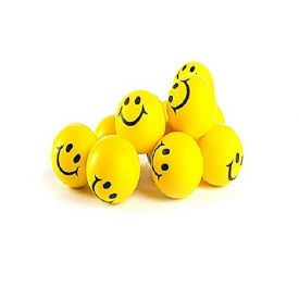 Yellow Foam set of 12 Smiley Ball