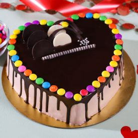 Gems Heart Cake