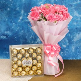 Ferrero Rocher N Pink Carnation