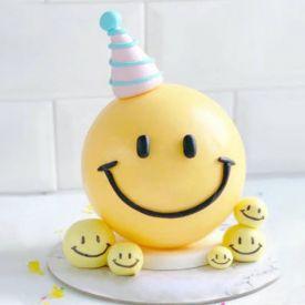 Smiley Pinata Cake