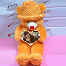 Personalized Brown Teddy With Cap