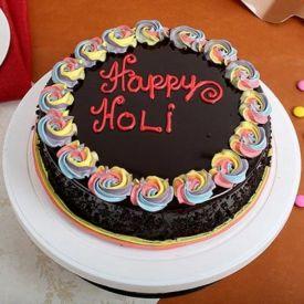 Holi special crunchy cake