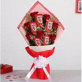 Roses & Nestle Choco Bouquet