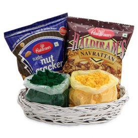 Snacks Gulal Basket Combo