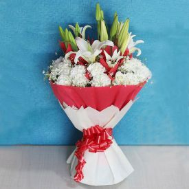 Lovely lilies and Carnation Bunch