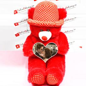 Personalized Red Teddy With Cap