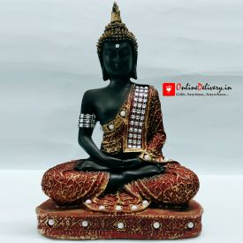Heeran Art Religious Idol of Lord Gautama Buddha Statue Decorative Showpiece