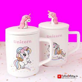 Unicorn Mug With Lid
