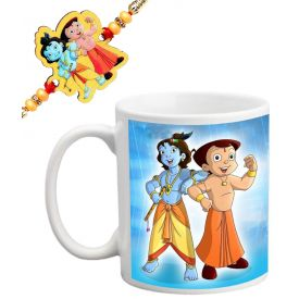 Chhota Bheem and Krishna Rakhi with Mug design