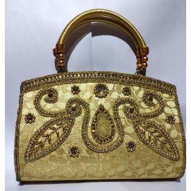 Golden party Clutch with golden handle